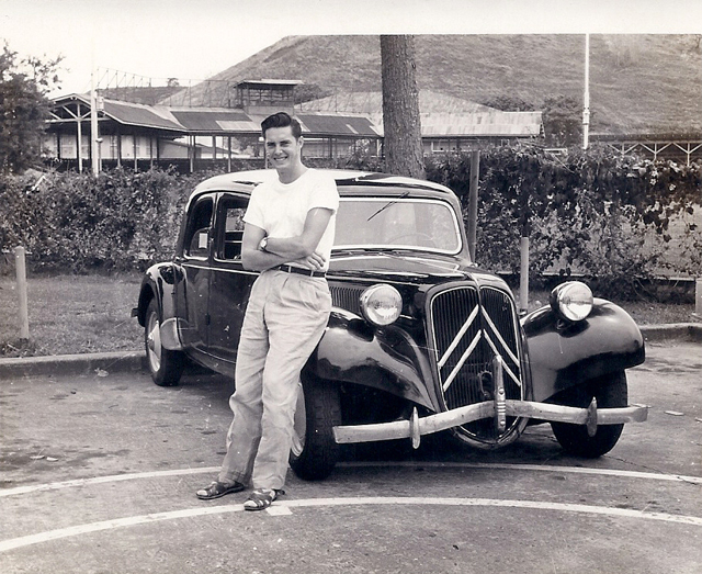 Jack and his Citroen CV11 in 1956