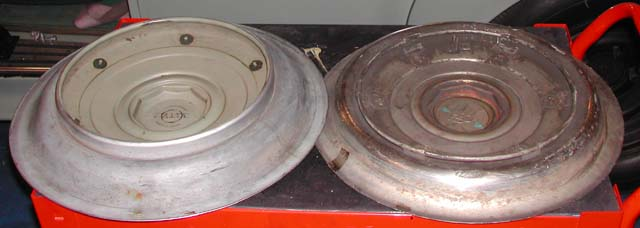 rear view of hubcaps cloud on left