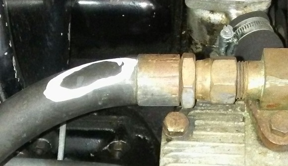 pin hole in AC line