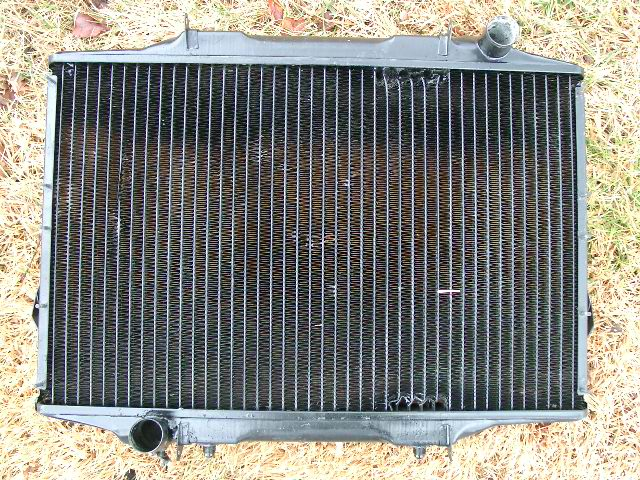 Repaired side of radiator
