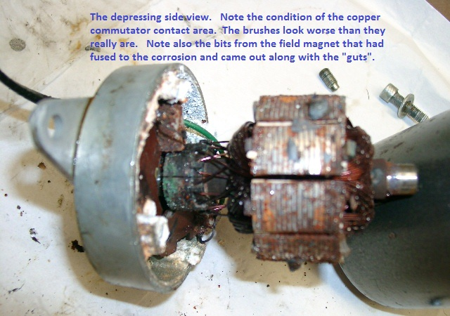 Corroded Motor Armature Side Shot