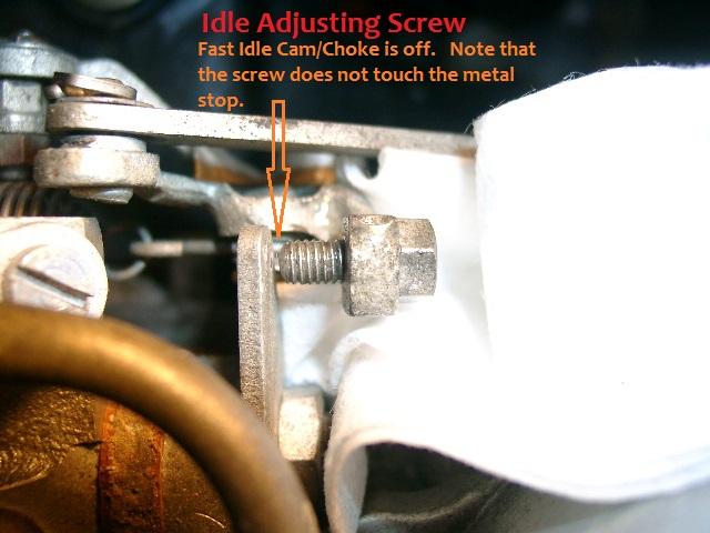 Idle Adjusting Screw - Overhead View