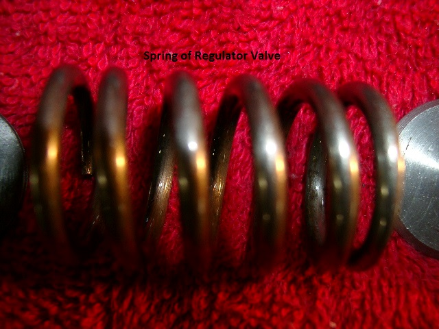 Regulator Valve Spring