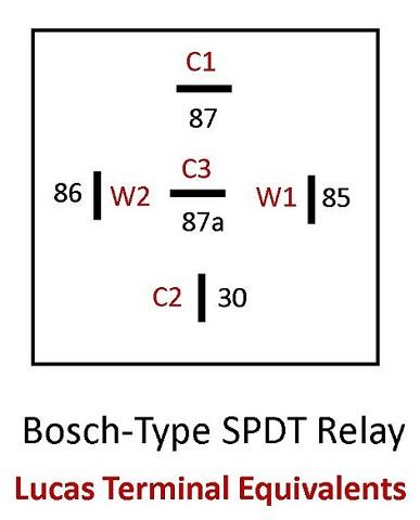 Lucas to Bosch Relay Map #1