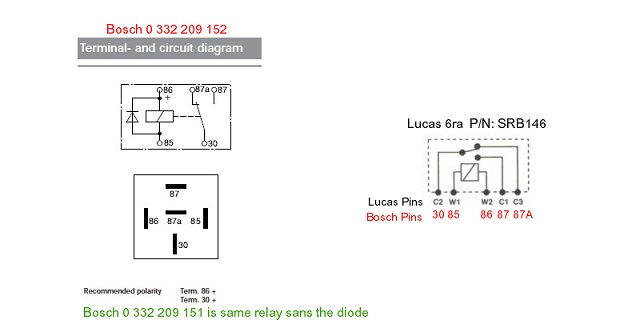 Australian Rr Forums Lucas Relaysrhaurrforums: Bosch Relay With Diode Wiring Diagram At Elf-jo.com