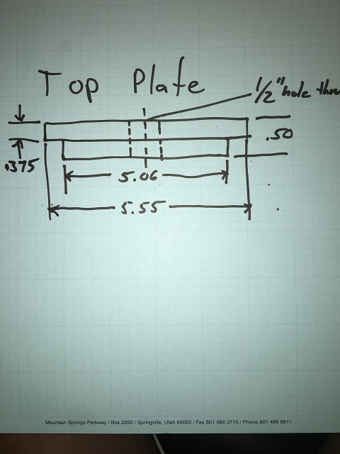 puller top plate drawing