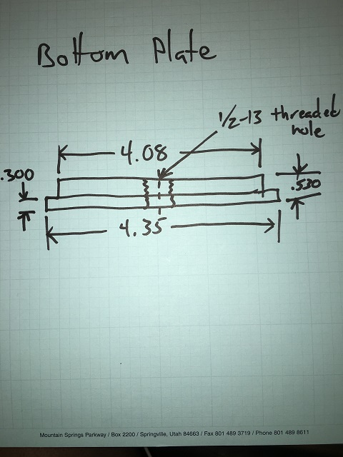 puller bottom plate drawing