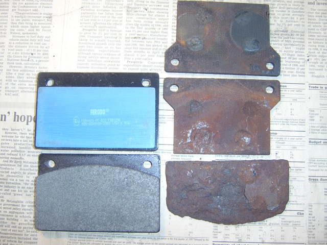 Shadow rear brake pads