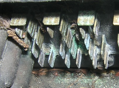 Oxydized connectors