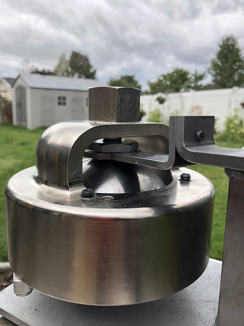 accumulator upper wrench in place with nut
