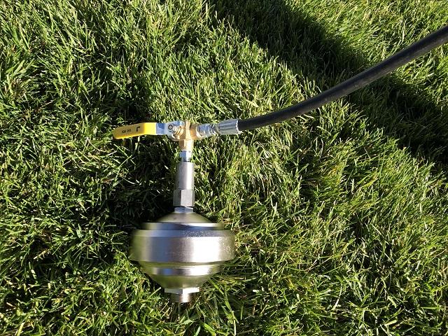 accumulator sphere charging
