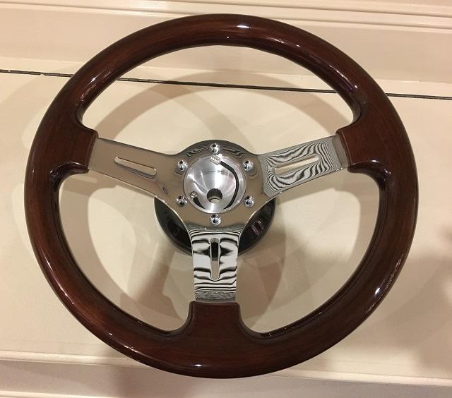 steering wheel set in place