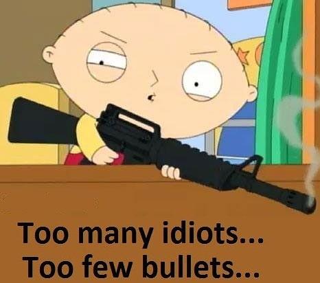 Too few bullets...