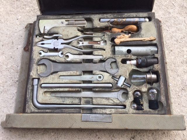 Overall view of the tools in their enclosure